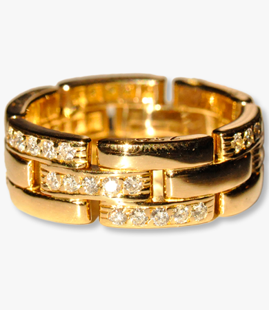 Yellow gold and diamonds 'Maillon Panthere' Cartier ring | Statement Jewels