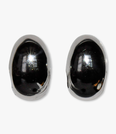 White gold drop-form Artur Scholl earrings | Statement Jewels